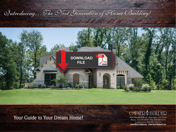Owner builder la build your own dream home for Building your dream home on your own lot